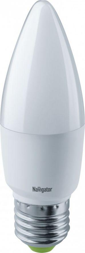 Светодиодная лампа Navigator Свеча C37 E27 8,5W(640lm) 2700 2K 38х116 NLL-C37-8.5-230-2.7K-E27 61327