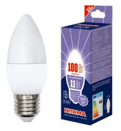 Светодиодная лампа Volpe NORMA свеча E27 9W(750lm) 6500K 6K матовая 37x100 LED-C37-9W/DW/E27/FR/NR