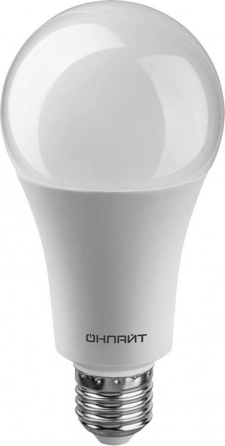 Светодиодная лампа ОНЛАЙТ ЛОН A70 E27 25W(2100Lm) 6500K 6K 142x70 ОLL-A70-25-230-6K-E27 61955