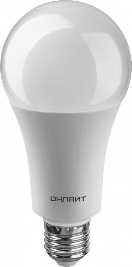 Светодиодная лампа ОНЛАЙТ ЛОН A70 E27 30W(2700Lm) 4000K 4K 148x70 ОLL-A70-230-230-4K-E27 61971