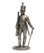 Унтер-офицер Лейб-гвардии Егерского батальона. Россия, 1802-04 гг.