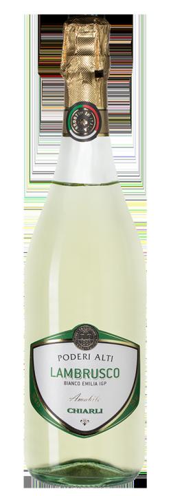 Lambrusco dell'Emilia Bianco Poderi Alti, 0.75 л.