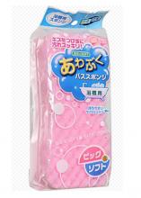 Губка для чистки ванны большая розовая, 22х10х5см