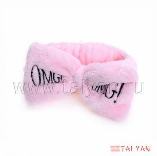 Повязка Бант для волос, 1 шт розовая