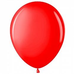 """Шар (5""""/ 13 см), красный, пастель, 100 шт"""
