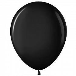 """Шар (5""""/ 13 см), чёрный, пастель, 100 шт"""