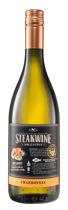 Steakwine Chardonnay, 0.75 л., 2017 г.