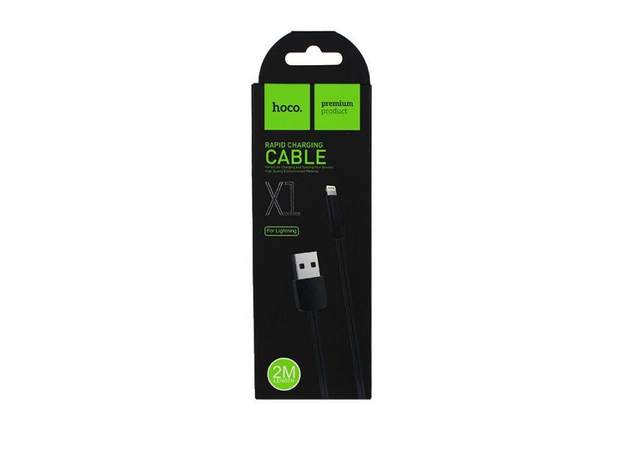 Кабель  USB-Type-C Hoco X1 Rapid, черный, 1м