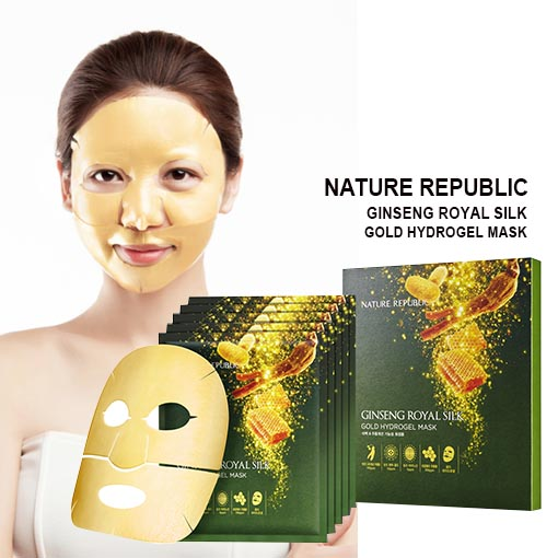 Маска для лица гидрогелевая Nature Republic GINSENG ROYAL SILK GOLD 2 STEP HYDROGEL MASK