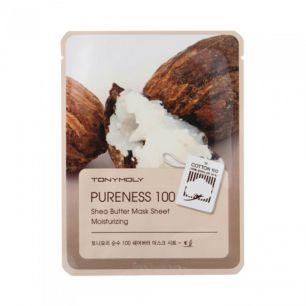 Pureness 100 Shea Butter Mask Sheet, Тканевая маска с экстрактом масла ши, 21 мл