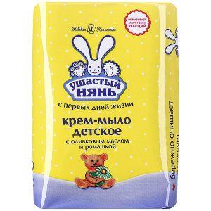 Крем-мыло Ушастый нянь с оливковым маслом и ромашкой, 90г