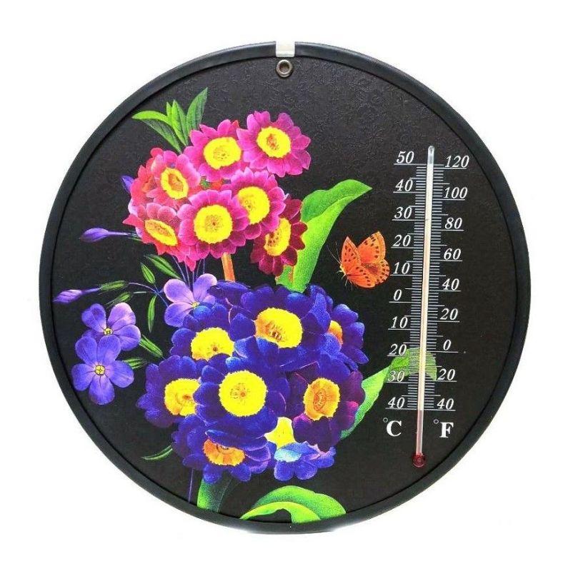 Декоративный круглый комнатный термометр Termometro, Мелкие цветы
