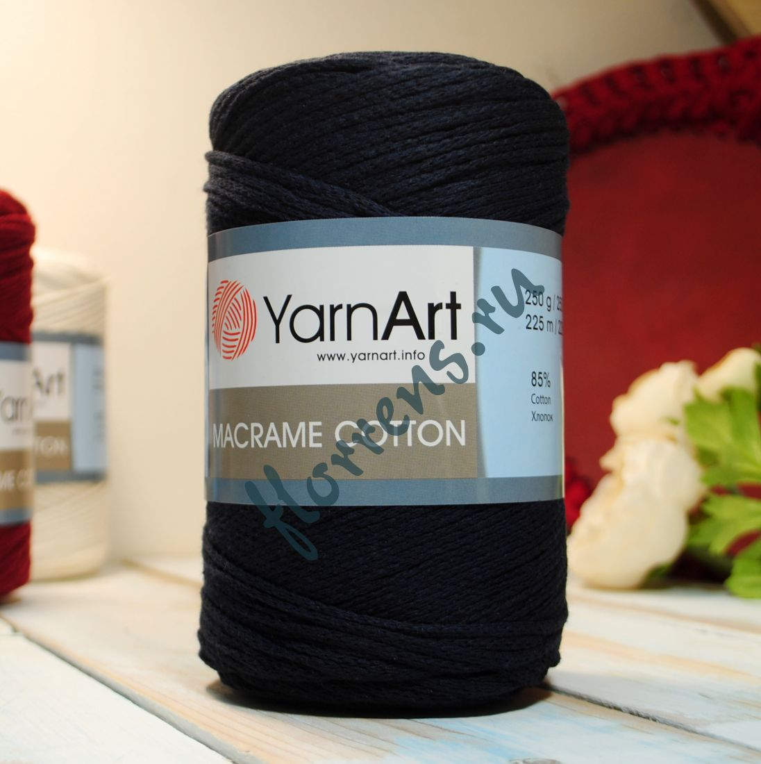 Пряжа Yarnart Macrame cotton / 782 т. синий