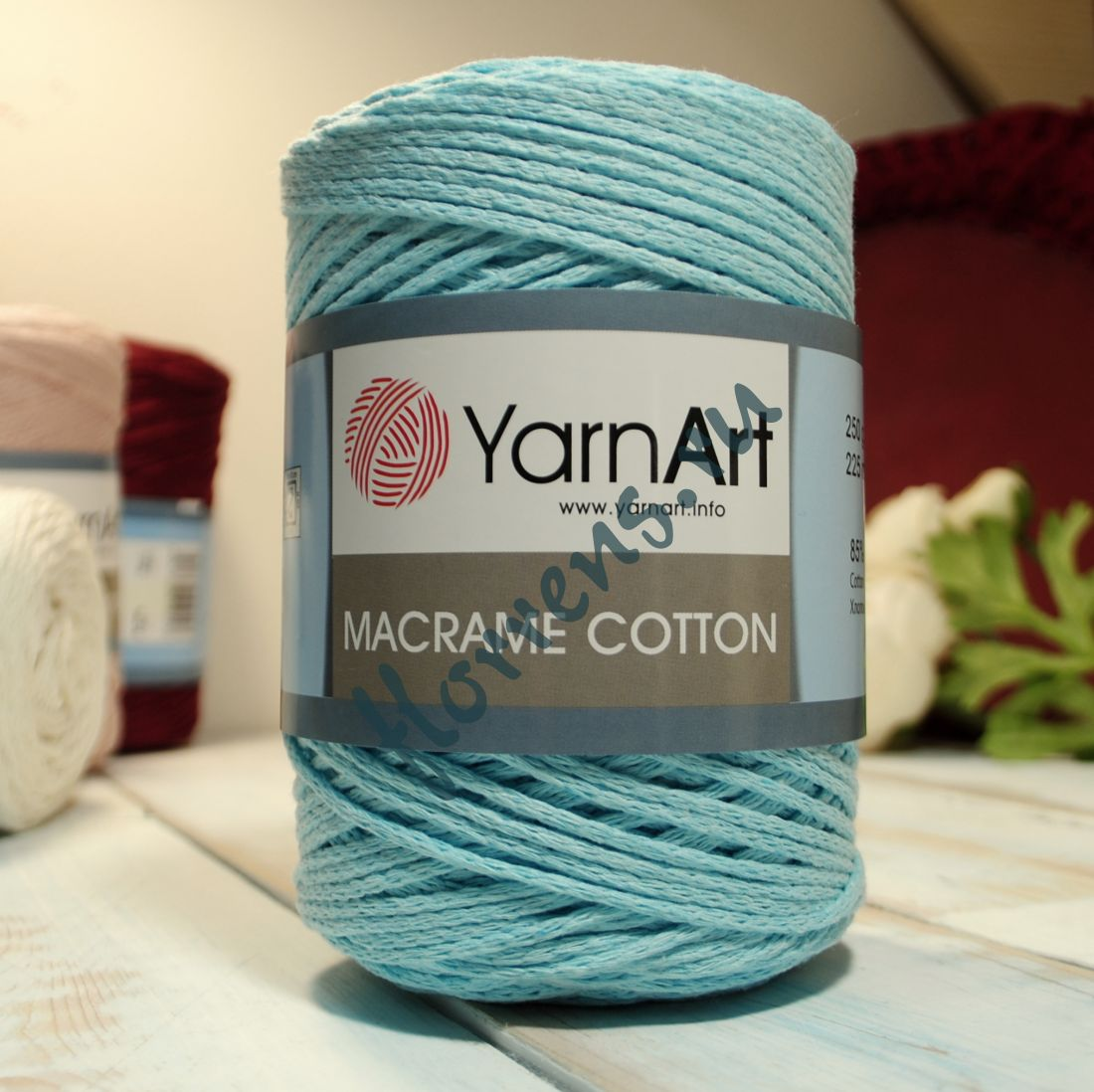 Пряжа Yarnart Macrame cotton / 792 айсберг