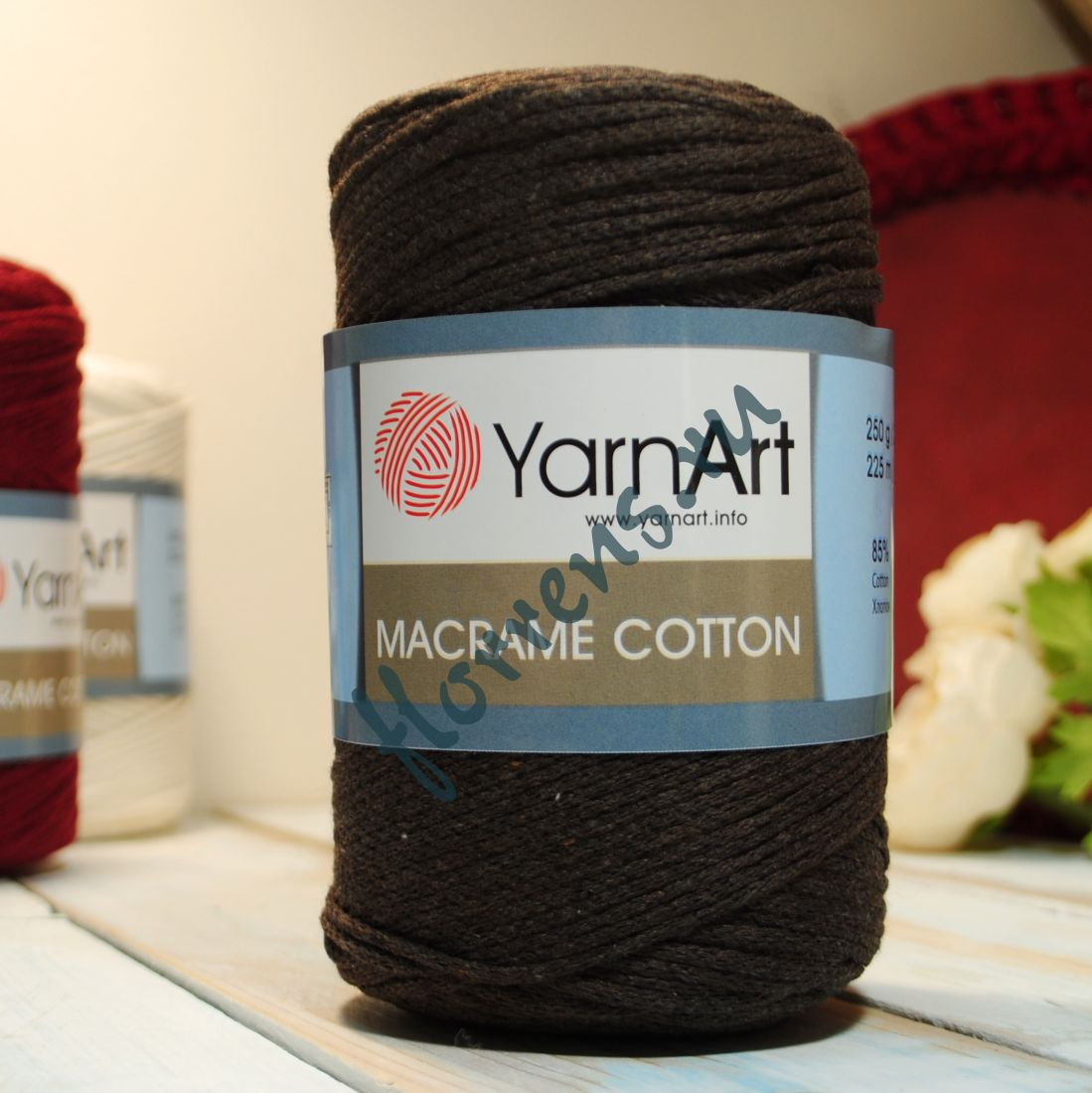 Пряжа Yarnart Macrame cotton / 775 горький шоколад
