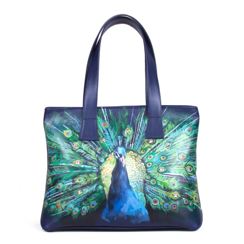 Средняя сумка Павлин с кристаллами Swarovski >Артикул: AA200081