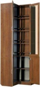 Шкаф угловой для книг (модуль 211)