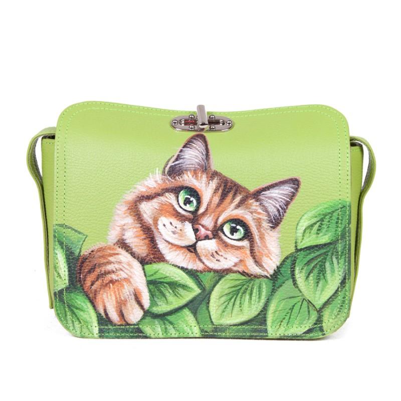 Сатчел Котик с листочком >Артикул: AC040281