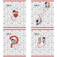 Тетрадь школьная Action! Love is 96 л., клетка, скрепка (арт. LI-AN 9618/5)