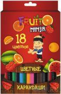 Набор цветных карандашей Action! Fruit Ninja, 18 шт. (арт. FN-ACP205-18)