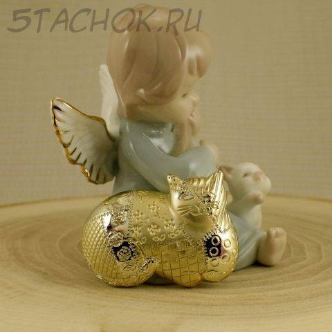 """Брошь """"Кошка в стиле пэчворк"""" цвет золота (AJC США)"""
