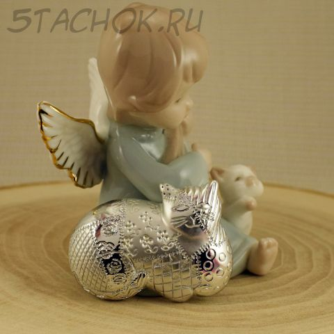 """Брошь """"Кошка в стиле пэчворк"""" цвет серебра (AJC США)"""