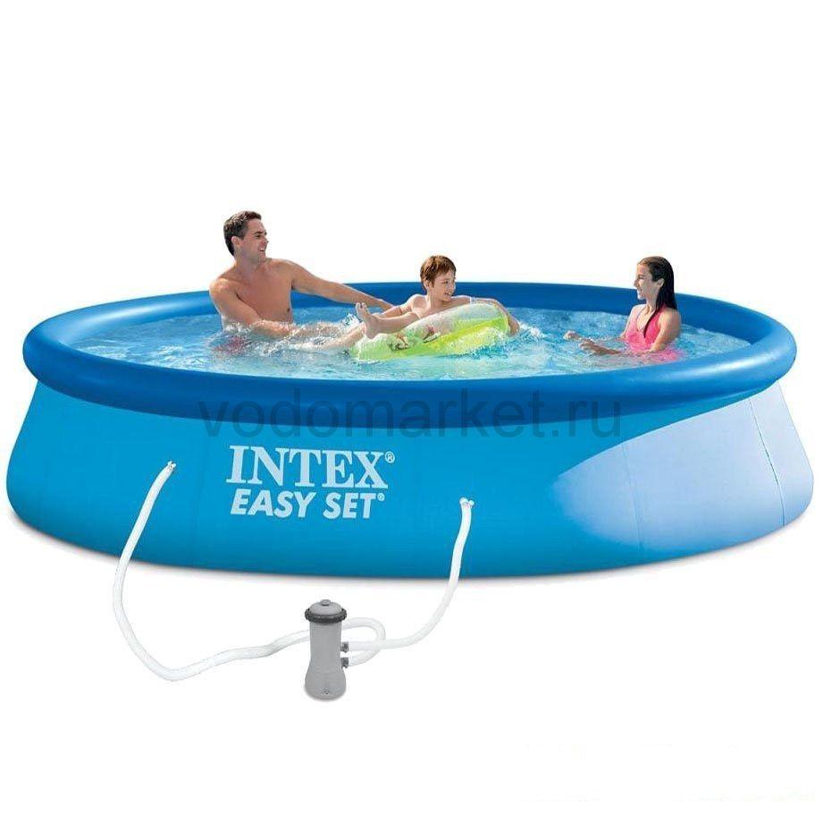 Бассейн надувной Intex Easy Set 396х84 см с фильтром (28142)