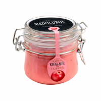 Крем-мёд Medolubov с клюквой 250мл бугель