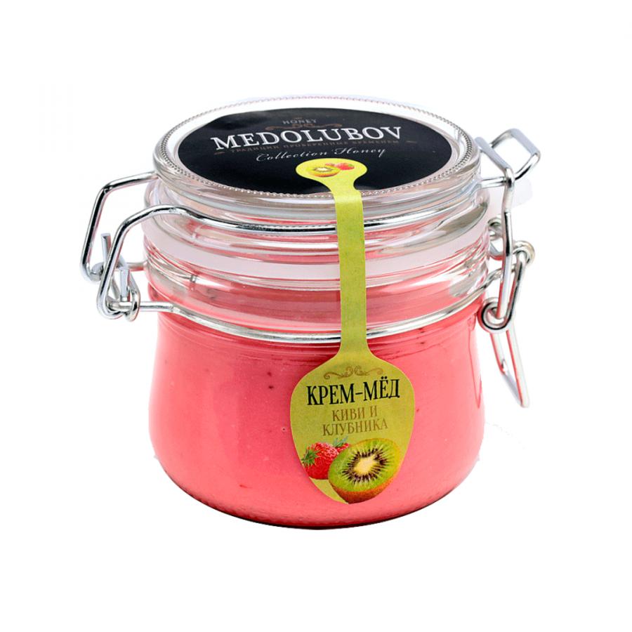 Крем-мёд Medolubov киви с клубникой 250мл бугель