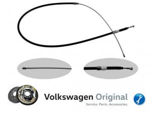 Трос Ручного тормоза Оригинал VAG (Барабаны) Volkswagen Polo Sedan